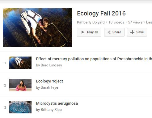 Kim Bolyard's YouTube page