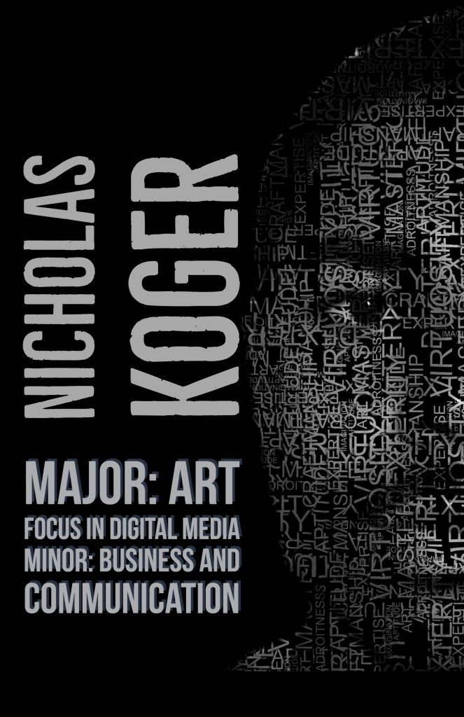 Poster about Nicholas Koger made on Adobe Spark