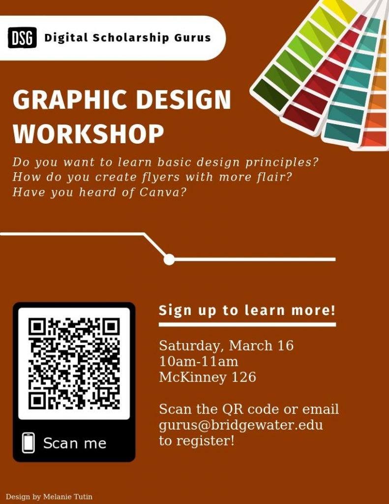 Poster for graphic design workshop