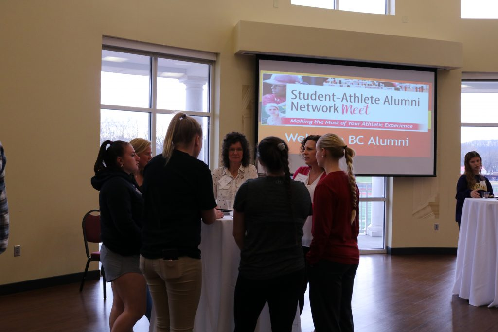 students at the Athlete Alumni Networking Event
