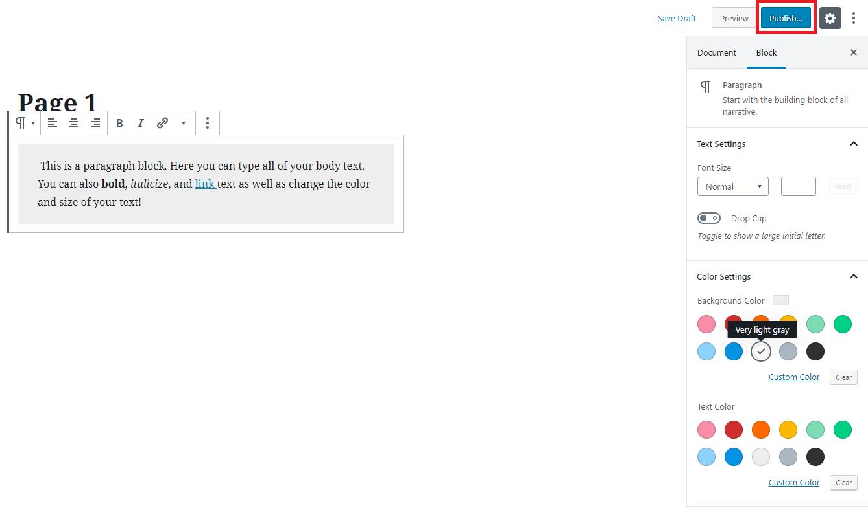 Screenshot of additional customization settings